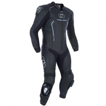 Oxford Stradale Men's 1 Piece Leather Motorcycle Motorbike Race Suit Black